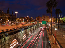 Barcelona night street Royalty Free Stock Photo
