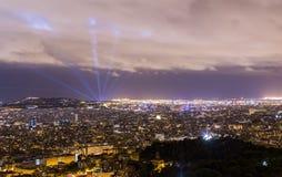 Barcelona Night Stock Photos