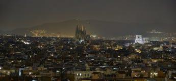 Barcelona night view Stock Photos