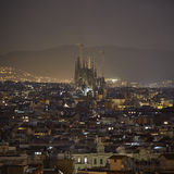 Barcelona night view Royalty Free Stock Photography