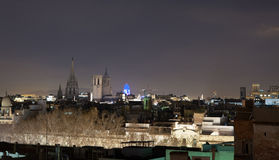 barcelona noc Obraz Stock