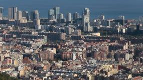 Barcelona north seaside skyline Stock Image