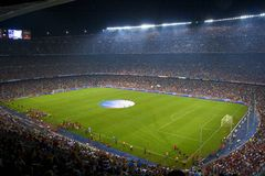 barcelona obozowy nou Spain stadium Obraz Royalty Free