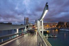 Barcelona od Rambla De Mącący przy półmrokiem Obraz Royalty Free