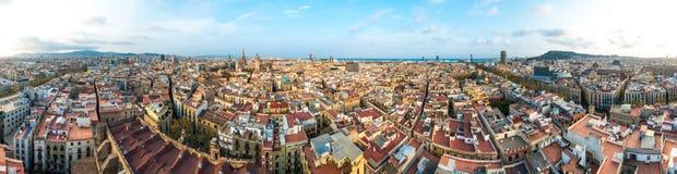 Barcelona od Santa Maria Del Pi kościół, Hiszpania Zdjęcia Stock