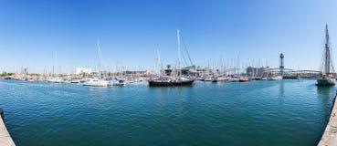 barcelona łodzi schronienie panorama Obraz Royalty Free