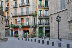 Barcelona old town, the Born quarter Stock Photography