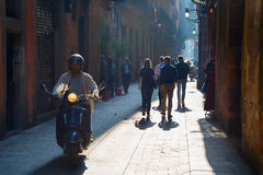 Barcelona Old Town street, Spain Stock Photography