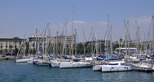 Barcelona, Olimpic port Royalty Free Stock Images