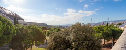 Barcelona-Olympiapark bei Montjuic, Spanien Stockfoto