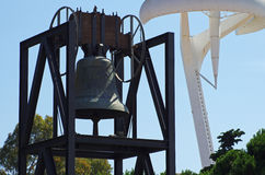 Barcelona - Olympic bell with Torre Calatrava Stock Image