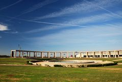 Barcelona, Olympic city. Pillars in front of L' Estadi Olímpic (Olympic stadium) of MontJuic Stock Photography