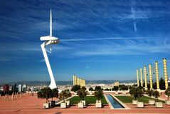 Barcelona, Olympic city Stock Photos