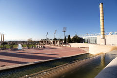 Barcelona olympic park (Anella Olimpica) on Montjuic Royalty Free Stock Images