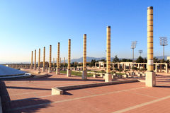 Barcelona olympic park (Anella Olimpica) on Montjuic Royalty Free Stock Photography