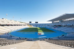 Barcelona Olympic stadium. A view of Olimpic Stadium (Estadi Olimpic) Lluis Companys in Barcelona, Spain Stock Images