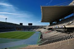 Barcelona. Olympic stadium. The Olympic stadium of Barcelona, build for the Olympic Games 1992 Royalty Free Stock Photos