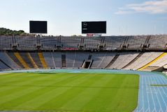 Barcelona. Olympic stadium. The Olympic stadium of Barcelona, build for the Olympic Games 1992 Stock Photo