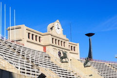 Barcelona Olympic Stadium and cauldron for olympic flame, Spain Royalty Free Stock Photography