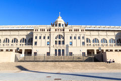 Barcelona Olympic Stadium (Estadi Olimpic Lluis Companys) facade. Spain Royalty Free Stock Images