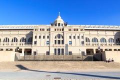 Barcelona Olympic Stadium (Estadi Olimpic Lluis Companys) facade Royalty Free Stock Images