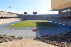 Barcelona Olympic Stadium (Estadi Olimpic Lluis Companys) on mountain Montjuic Stock Photography