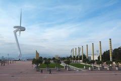 Barcelona Olympic stadium Royalty Free Stock Photo