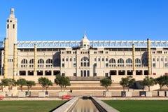 Barcelona Olympic Stadium och olympic parkerar (Anella Olimpica) Fotografering för Bildbyråer