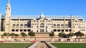 Barcelona Olympic Stadium och olympic parkerar (Anella Olimpica) Arkivbilder