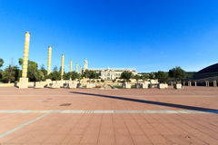 Barcelona Olympic Stadium and olympic park (Anella Olimpica) Stock Images