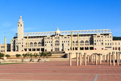 Barcelona Olympic Stadium and olympic park (Anella Olimpica) Royalty Free Stock Photography