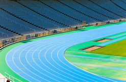 Barcelona. Olympic stadium. Running track Stock Photo