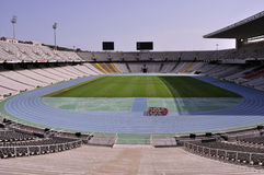 Barcelona-olympisches Stadion Stockfoto