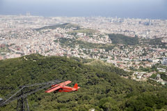 Barcelona  - outlook from Tibidabo Royalty Free Stock Images