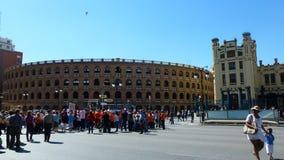 Barcelona på fyrkanten. Arkivfoton