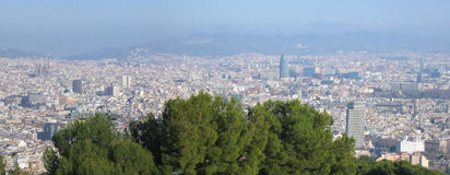Barcelona panorama Stock Images