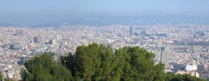 barcelona panorama arkivbilder