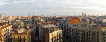 Barcelona panorama Royalty Free Stock Images