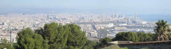 Barcelona-Panorama stockfotos