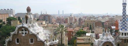barcelona panorama arkivbild