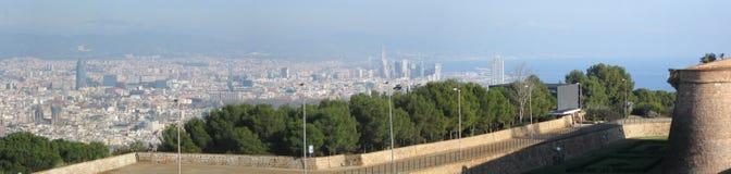 Barcelona panorama stock images