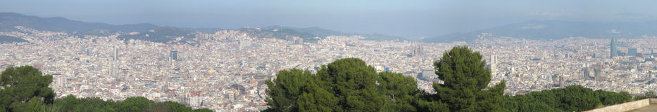 Barcelona panorama Royalty Free Stock Photography