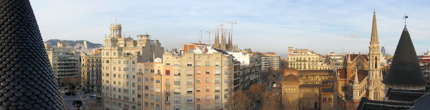 Barcelona panorama Royalty Free Stock Photography