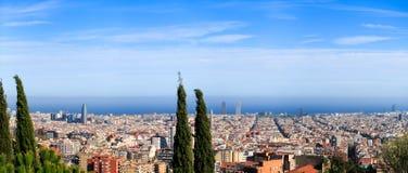Barcelona-Panorama Lizenzfreies Stockfoto
