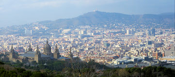 Barcelona panorama Royalty Free Stock Photo