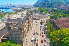 barcelona panorama Państowa Agencja dla podatek administraci, podatek Ag zdjęcie stock