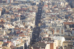 Barcelona panorama. Shot from park guell Royalty Free Stock Photo