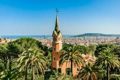 barcelona panorama- sikt fotografering för bildbyråer