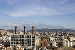 barcelona panorama- sikt Royaltyfri Foto