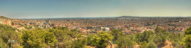 Barcelona panorama spain. This is a panorama with the new burj-dubai like building barcelona royalty free stock photography